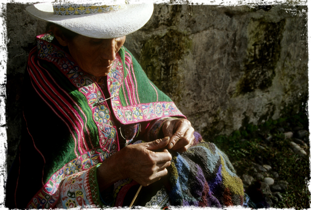 knitter in hat