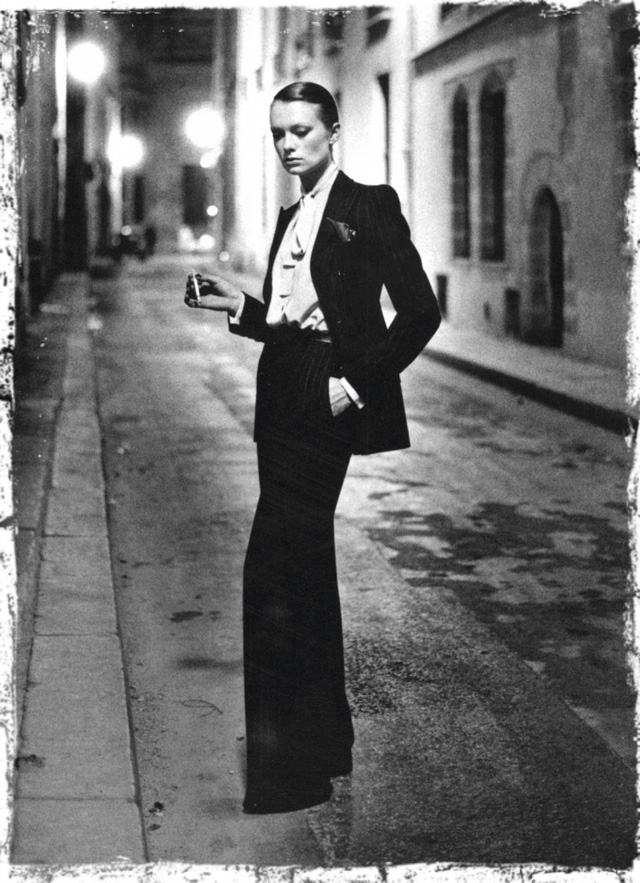 "YSL's ""smoking jacket"", circa 1966."
