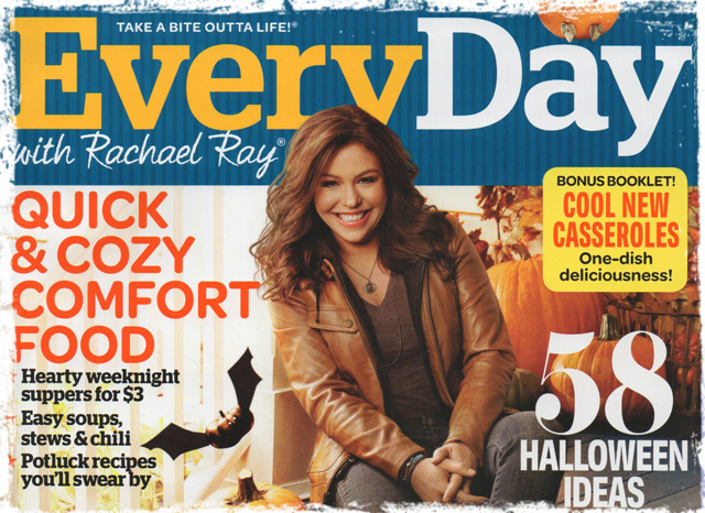 Rachael Ray wearing our Cheval Pendant on the October cover of EveryDay.