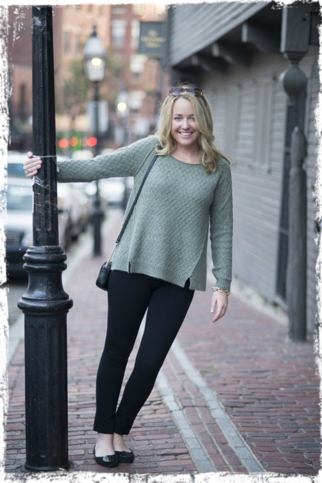 "Kelsey of ""Tickle Me Pink"" in our Inlet Pullover."