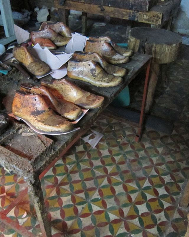 Antique shoes in Fez, Morocco (photo by Brandon Mably, Kaffe Fassett Studio)